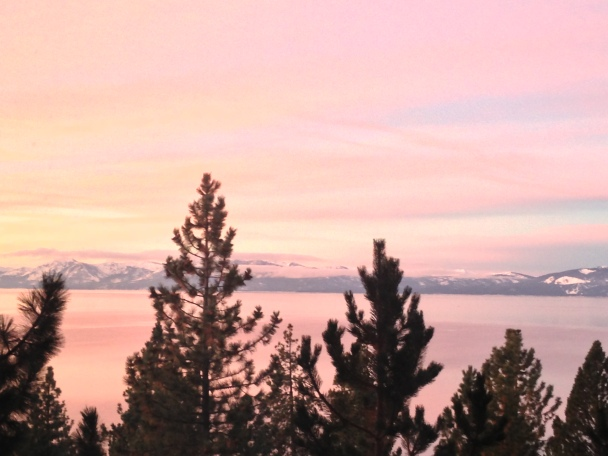 Lake Tahoe at dawn January 2013